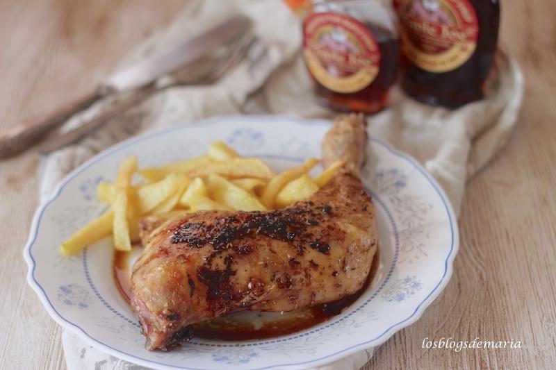 Pollo asado al jarabe de arce