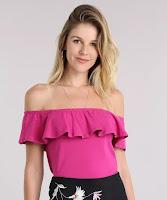A modelagem é cropped. Essa blusa é perfeita para compor seus melhores looks