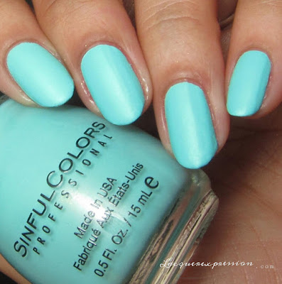 nail polish swatch of Mint Chip from the Pretty Vintage Collection by SinfulColors in collaboration with Kandee Johnson