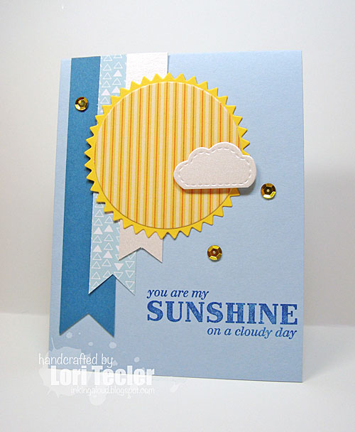 Sunshine on a Cloudy Day card-designed by Lori Tecler/Inking Aloud-stamps from Clear and Simple Stamps