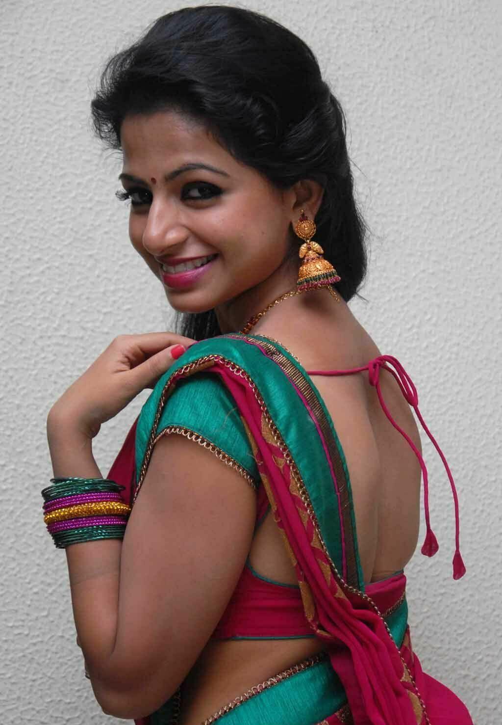 Akshara Menon Hot Photos In Red Saree