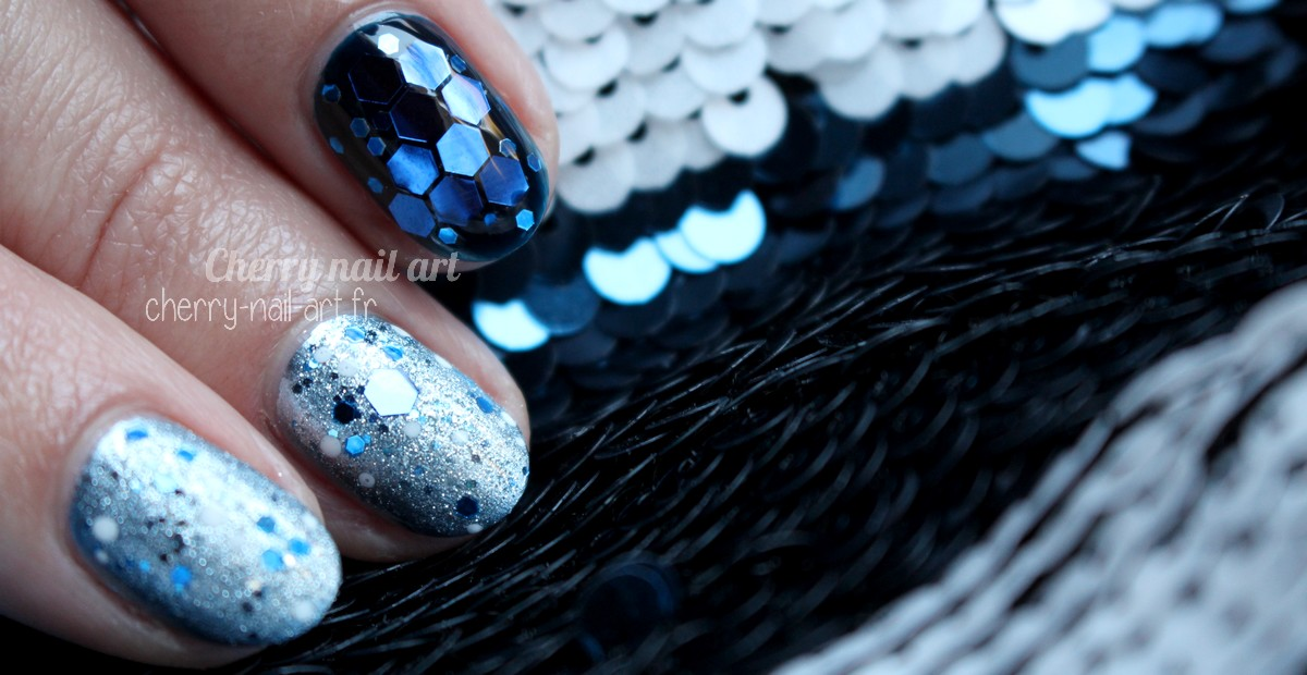 nail-art-noël-nouvel-an-facile-vernis-paillettes-hexagonales