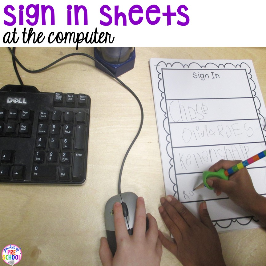 Free Daily Sign In Sheets for Your Classroom - Pocket of Preschool