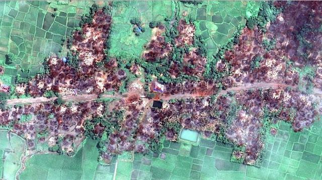 Bukan Hoax, Begini Penampakan Rumah-rumah Warga Rohingya yang Hangus Dibakar
