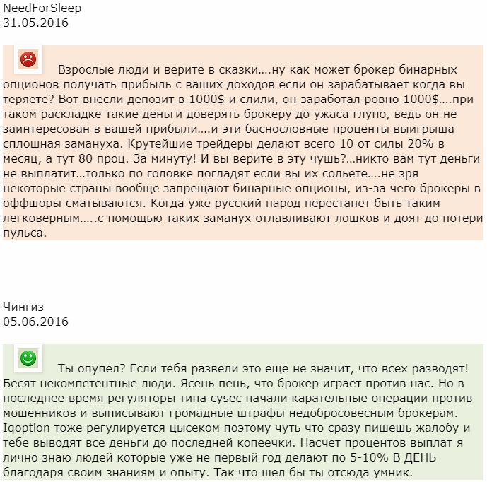 Айкью опшин отзыв от NeedForSleep