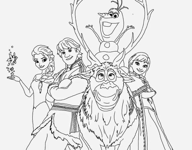 Kumpulan Gambar Frozen Untuk Diwarnai - Si Gambar