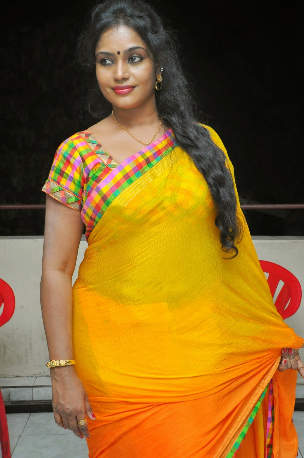 South Jayavani Aunty Latest Hot Saree Photos 2018-3637