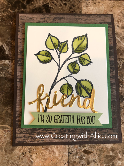 Check out the video tutorial with some AMAZING tips and tricks for making cards using Stampin' Up! Blends (alchol markers)!  You will love how quick and easy this is to make!  www.creatingwithallie.com #stampinup #alejandragomez #creatingwithallie #videotutorial #cardmaking #papercrafts #handmadegreetingcards #fun #creativity #makeacard #sendacard #stampingisfun #stampinblendsarethebest #coloringmadeeasy