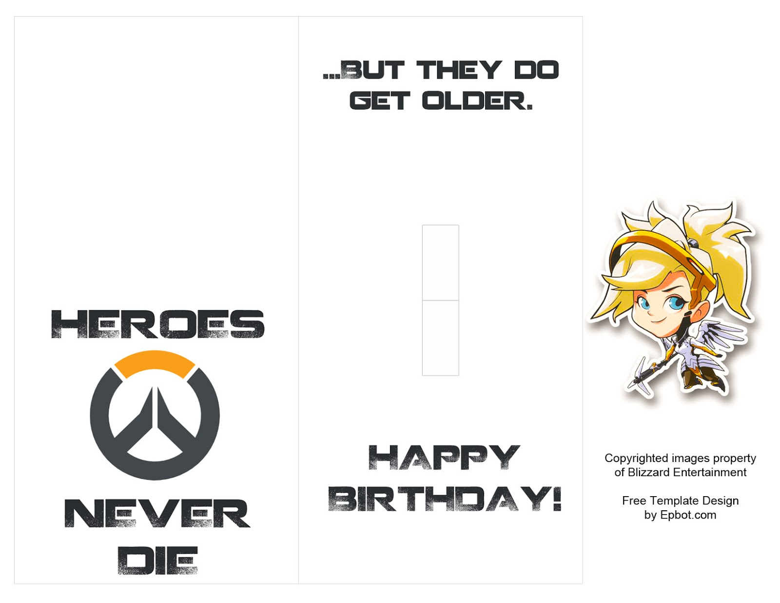EPBOT DIY Overwatch PopUp Card Free Templates – Pop Up Birthday Card Templates