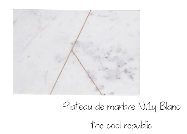 Plateau de marbre N.1y Blanc - House Doctor - the cool republic