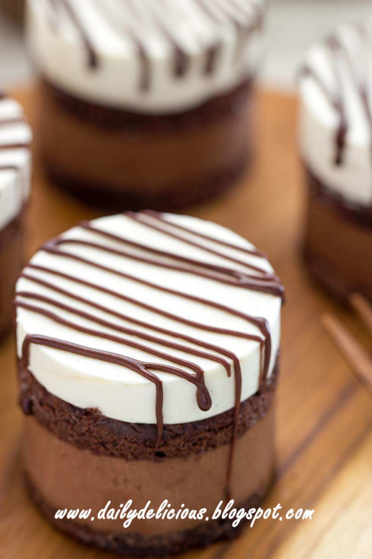 Dailydelicious No Egg Mascarpone Chocolate Rare Cheesecake