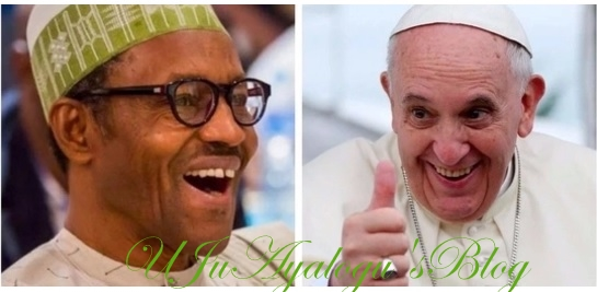 Buhari gets major validation as Pope Francis declares support for anti-corruption campaign