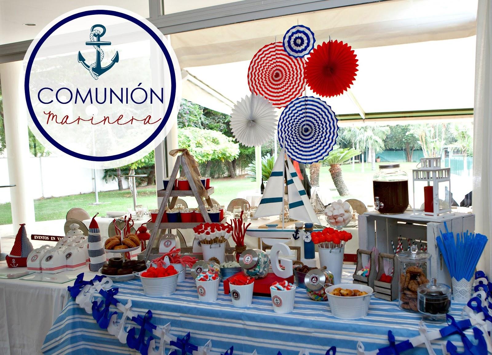 decoracion primera comunion marinera