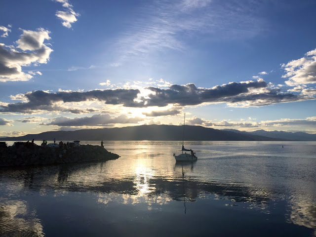 Sunset on Utah Lake