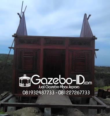 Gazebo Rumah Ukir Jawa Jati Jepara - Rangka