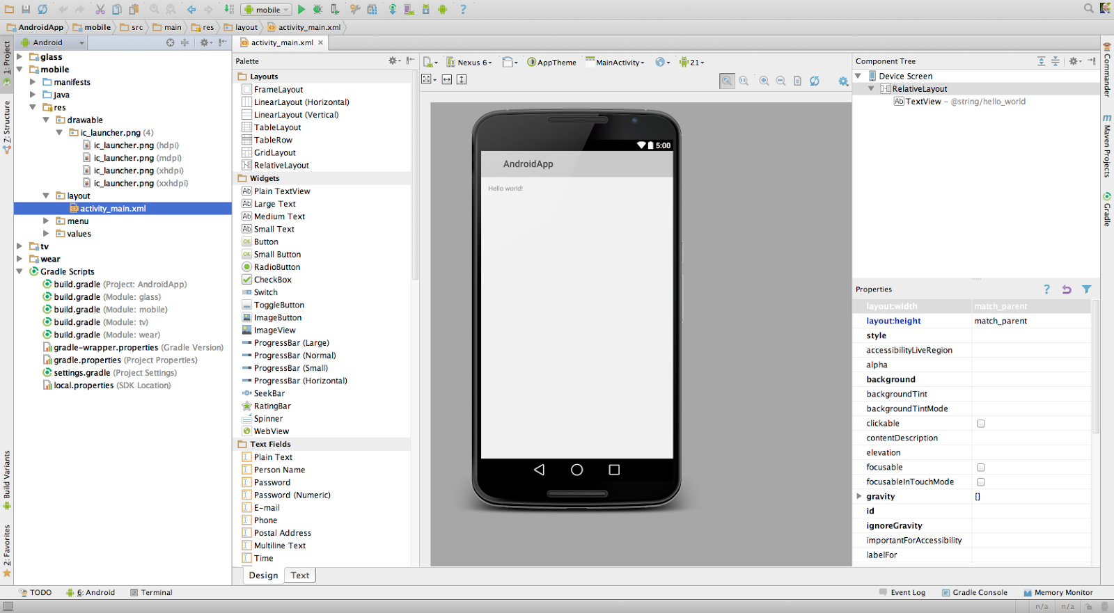Write android studio game app