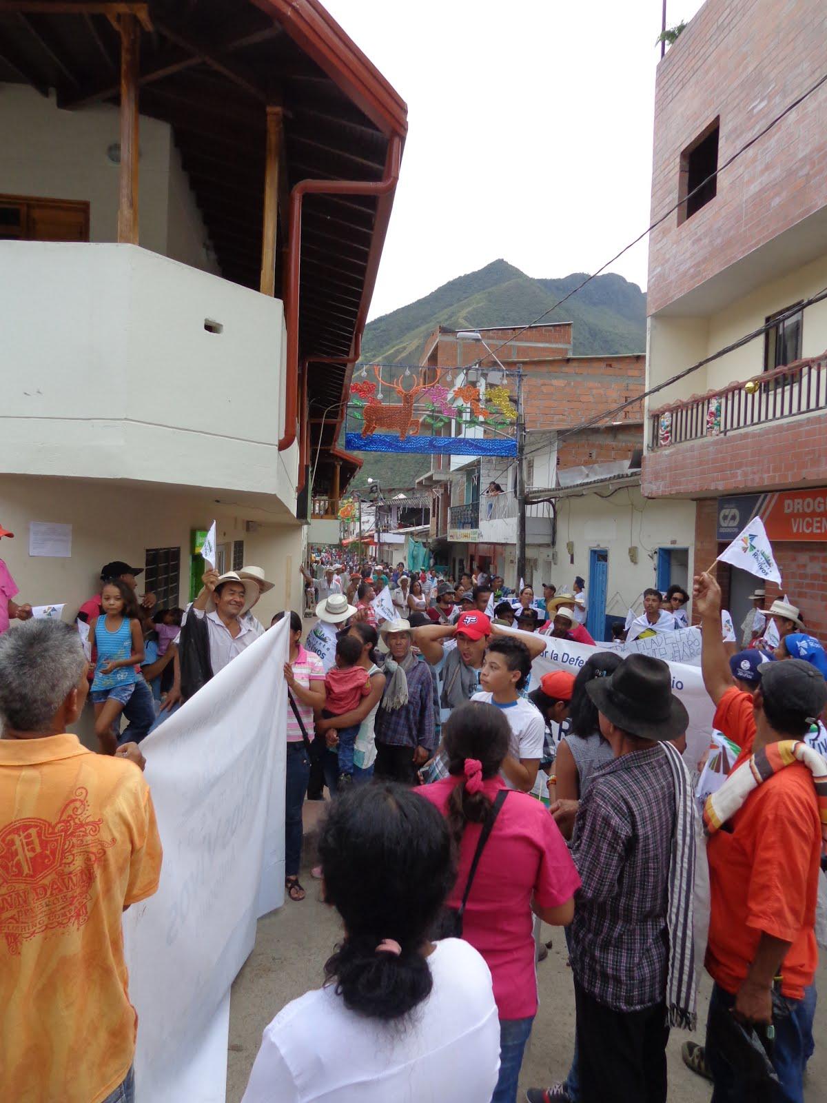 Marcha en contra de Hidroituango
