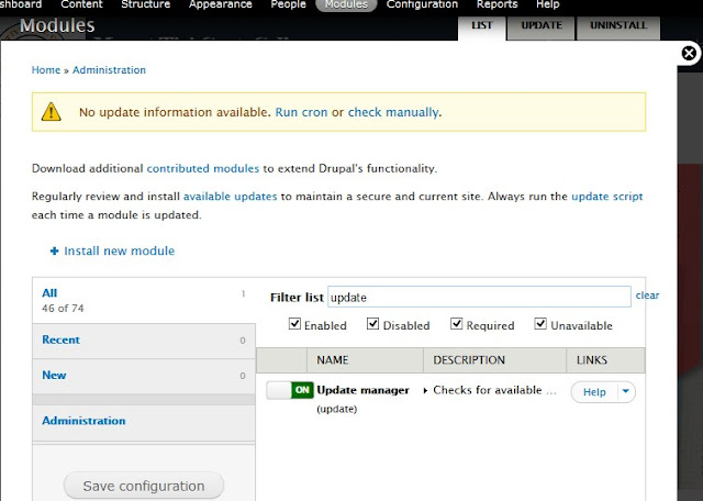 enable to install a new module update manager drupal