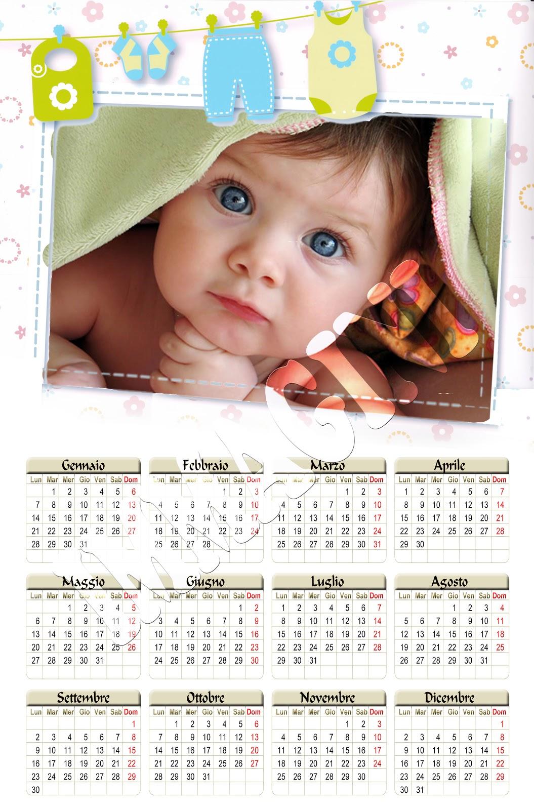 Calendario Bimbi.Foto Calendario Bimbi Ikbenalles