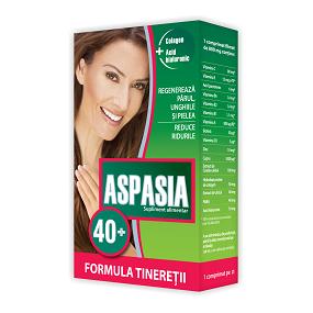 Imagine cu cutia suplimentului alimentar aspazia 40+ formula tineretii. Click pentru detalii si cumparare