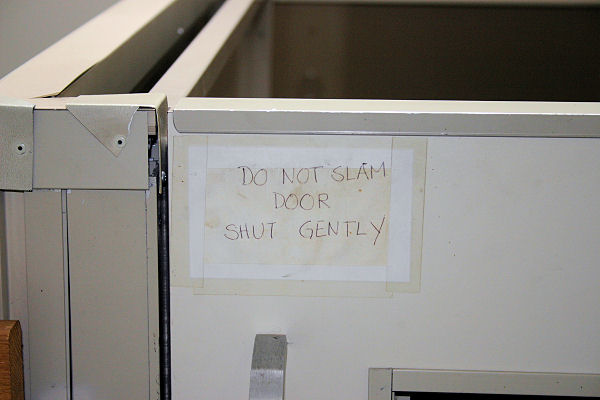 Do Not Slam Door Shut Gently