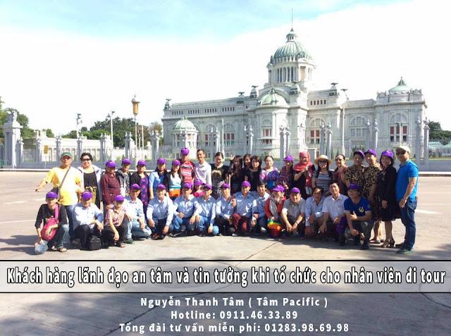 Khách hàng lãnh đạo an tâm và tin tưởng khi tổ chức cho nhân viên đi tour