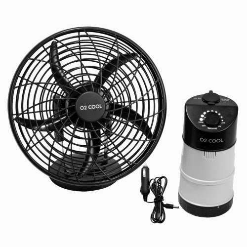 O2 Cool Portable Tent Fan with Emergency Device Charger ...