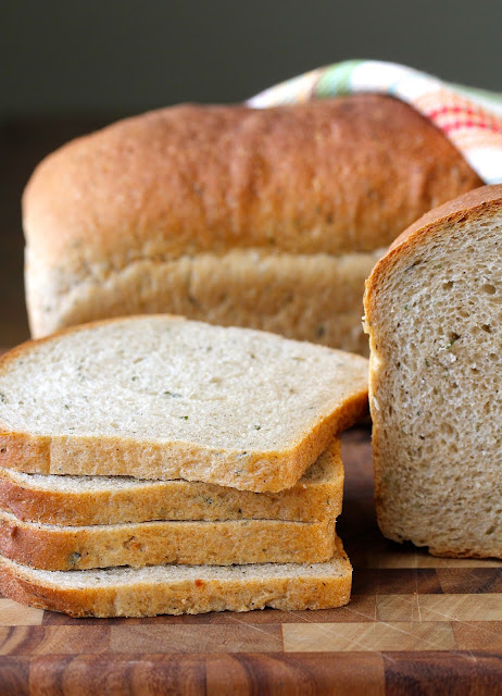 Rosemary, Garlic, and Parsley Whole Wheat Bread