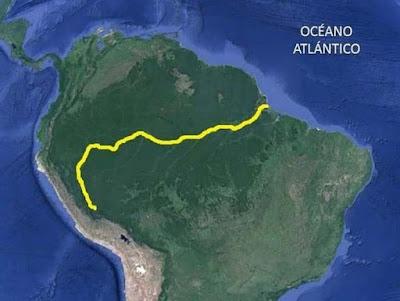 Historia del río Amazonas, río Amazonas, recorrido del río Amazonas