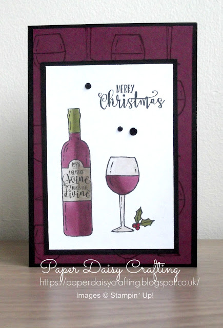 Christmas card with Half Full stamp set from Stampin' Up!, coloured with the Stampin' Blends