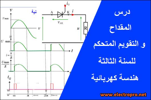 درس التريريستور والتقويم المتحكم للسنة الثالثة