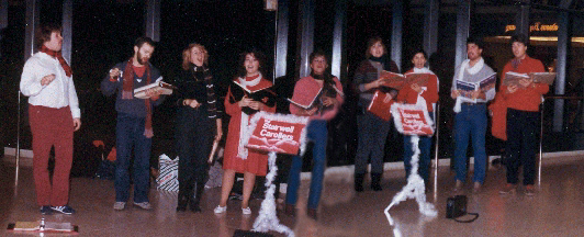 Carolling in the Rideau Centre, late 80's