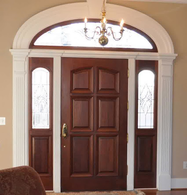 27 contoh gambar model desain pintu minimalis kayu jati