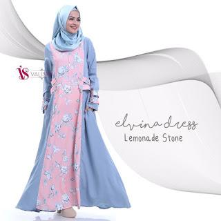 Gamis Valisha Elvina Dress Lemonade Stone