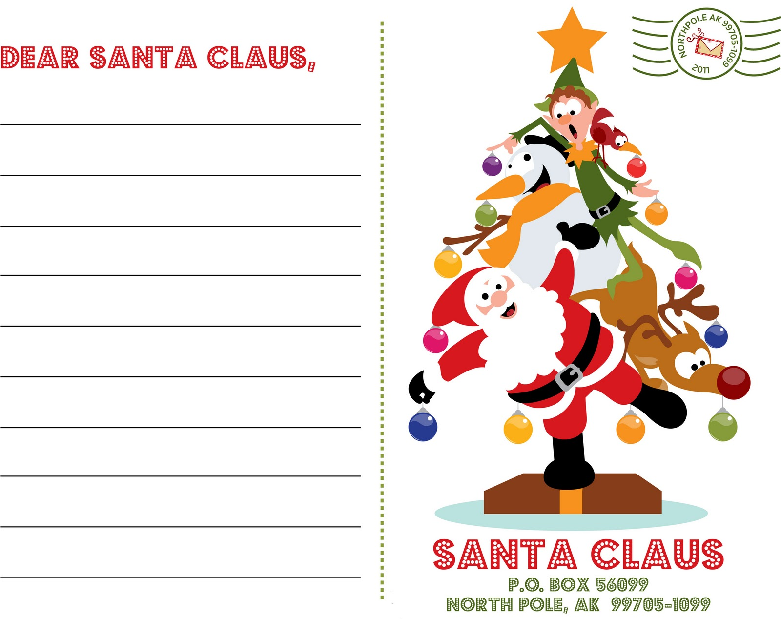 how to write a friendly letter to santa claus