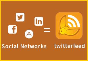 شرح مفصل لموقع twitterfeed  لنشر محتوى موقعك تلقائيا على شبكات التواصل الاجتماعي.