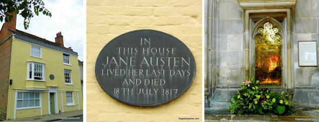 Casa de Jane Austen em Winchester e sepultura de Jane Austen na Catedral de Winchester