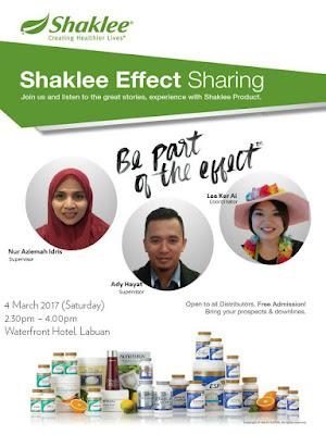 Program bulanan Shaklee Labuan; Shaklee labuan; Shaklee Alicia; Testimoni Shaklee;