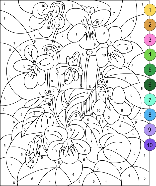 Impeccable image inside free printable color by number for adults