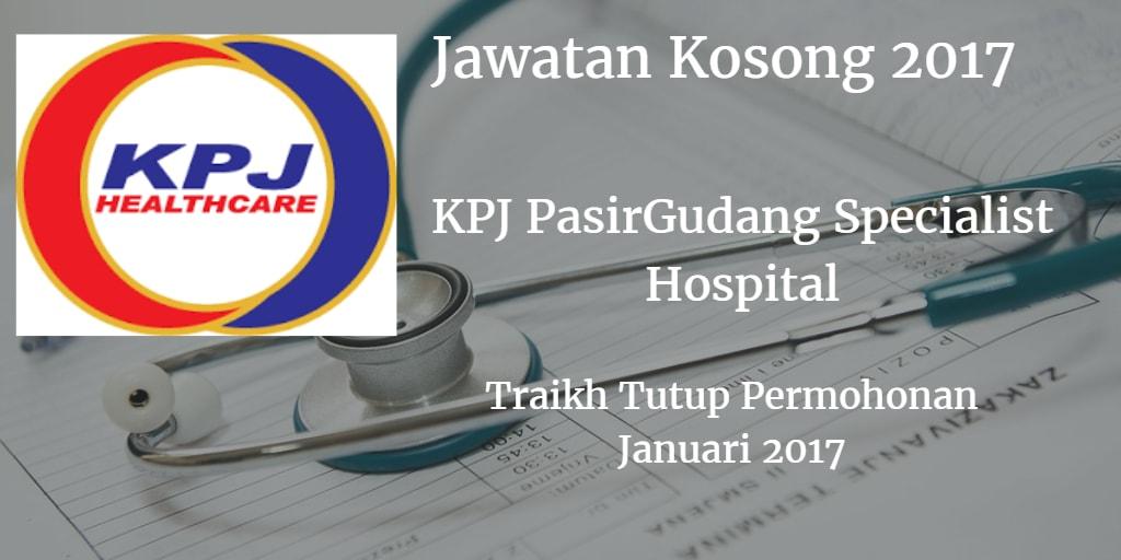 Jawatan Kosong KPJ PasirGudang Specialist Hospital Januari 2017