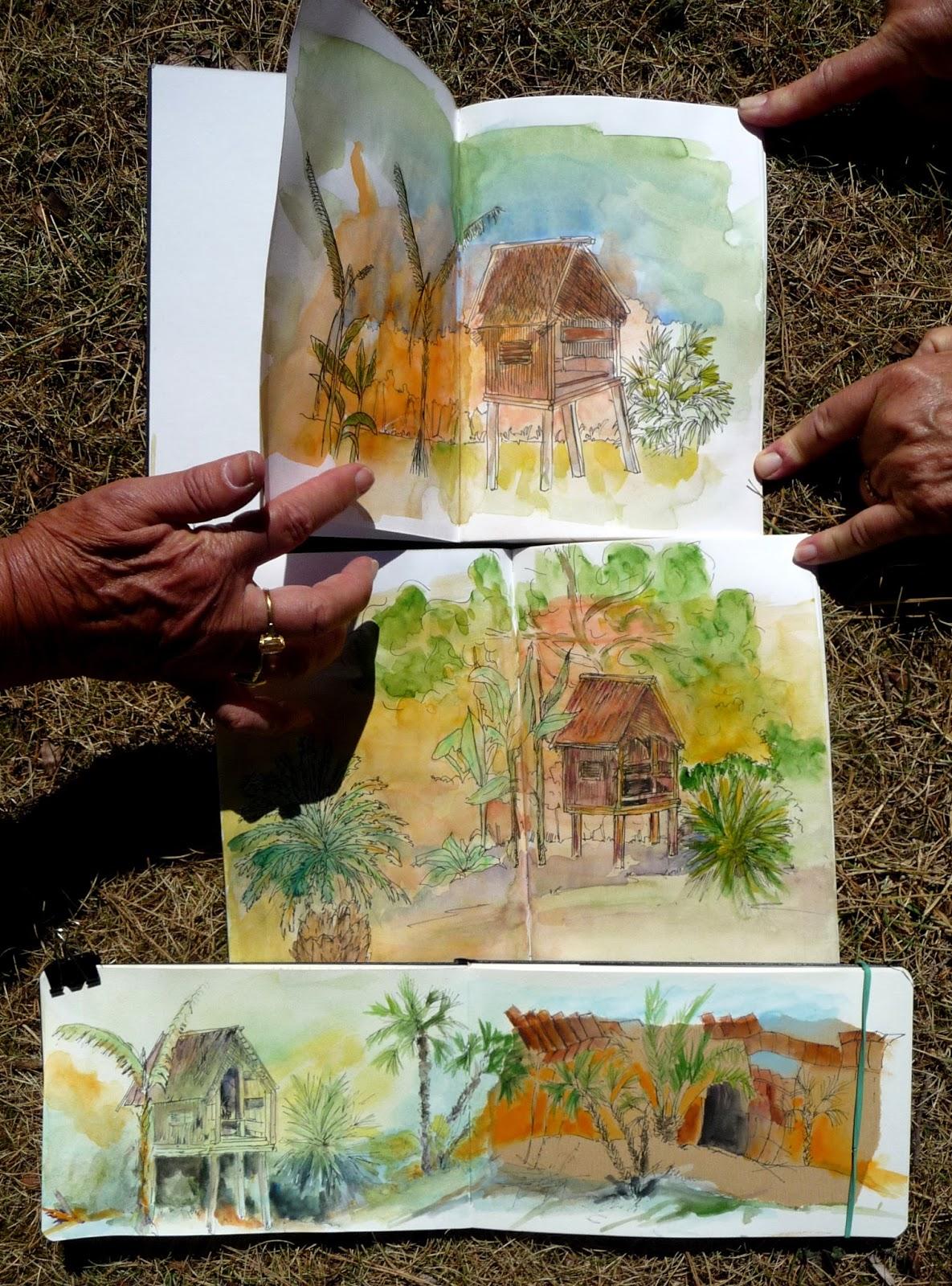 Cours et stages carnet de voyage dessin peinture sur aix for Au jardin de sylvie