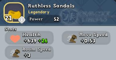 World of Legends - Ruthless Sandals