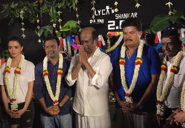 Rajinikanth Robo 2.0 Working Stills