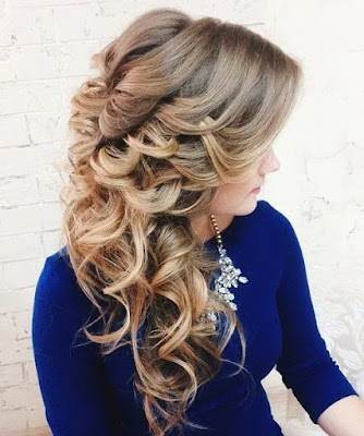 Layered and Gathered Bridal Hairstyle