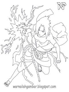 Mewarnai Sasuke 1 Mewarnai Gambar