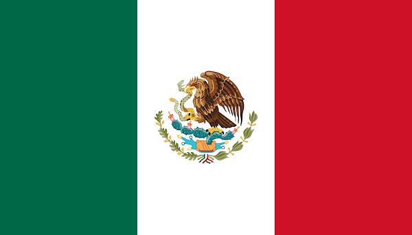 Logo Gambar Bendera Negara Meksiko Serikat PNG JPG ukuran 600 px