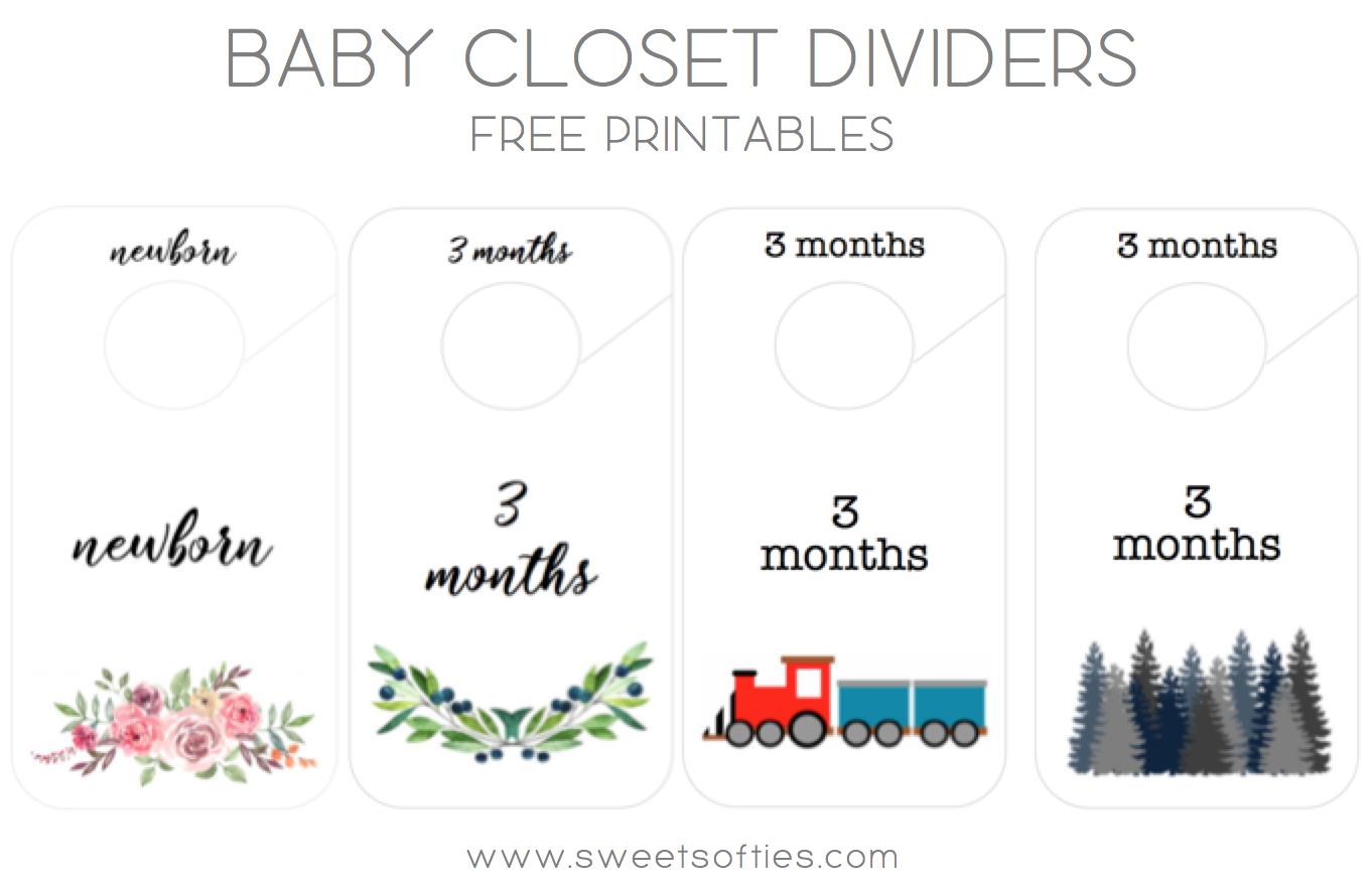 Baby Closet Dividers Free Printables Sweet Softies Amigurumi And Crochet