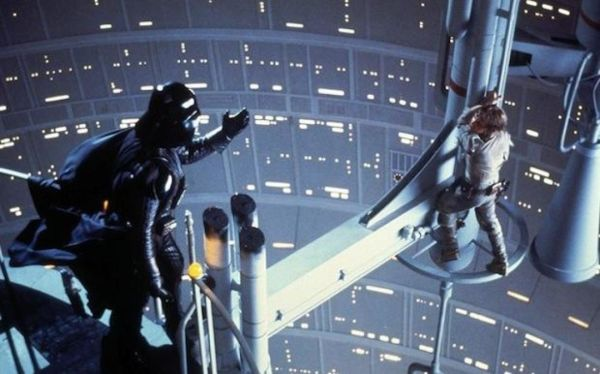 Darth Vader and Luke Skywalker in The Empire Strikes Back