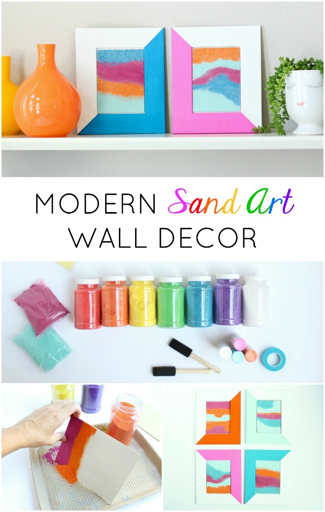 Such a fun sand art craft - turn it into framed modern wall art!