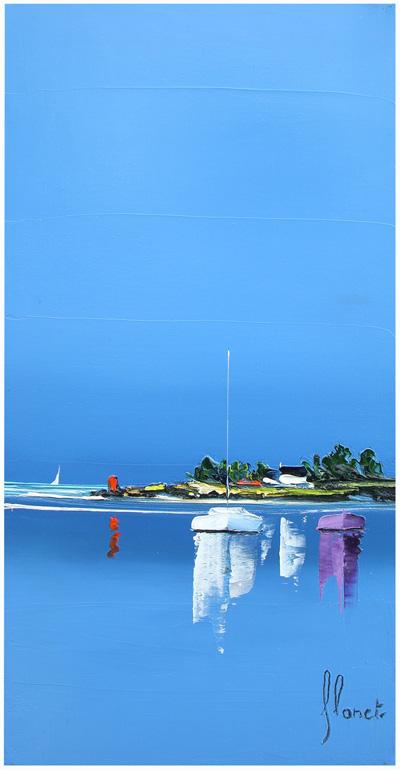 Transparente - Frédéric Flanet e suas belas pinturas com paisagem de praias